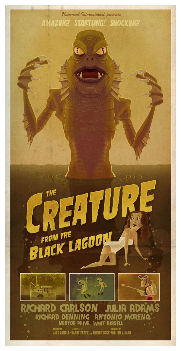 The Creature From the Black Lagoon by JAMES GILLEARD