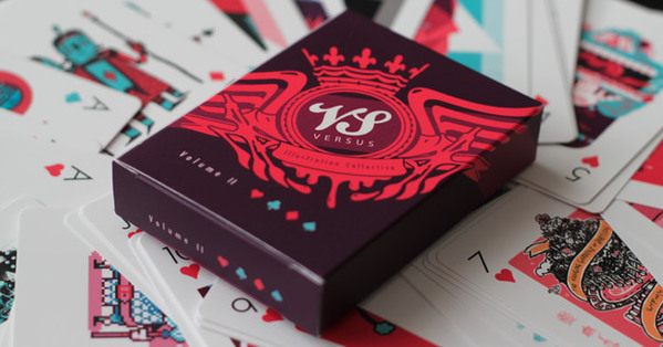 Versus Illustration Playing Cards by Barney Ibbotson