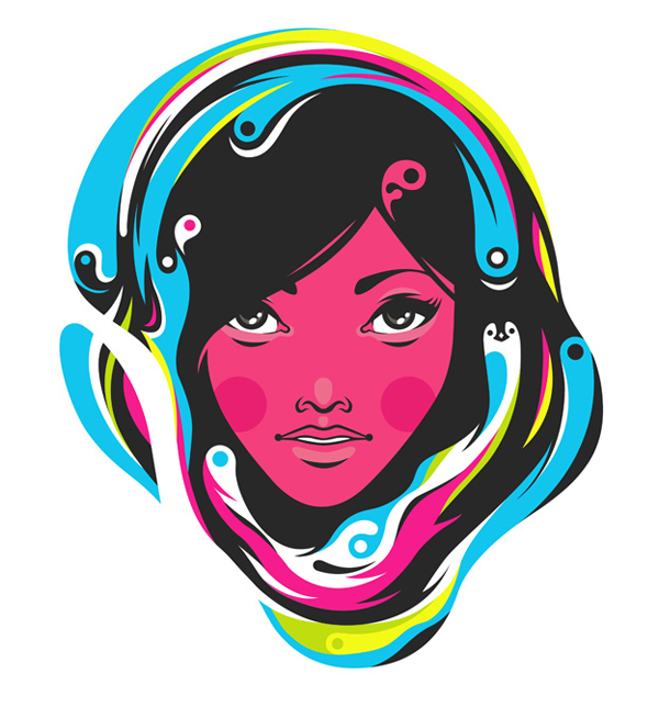 CMYK girl by pál