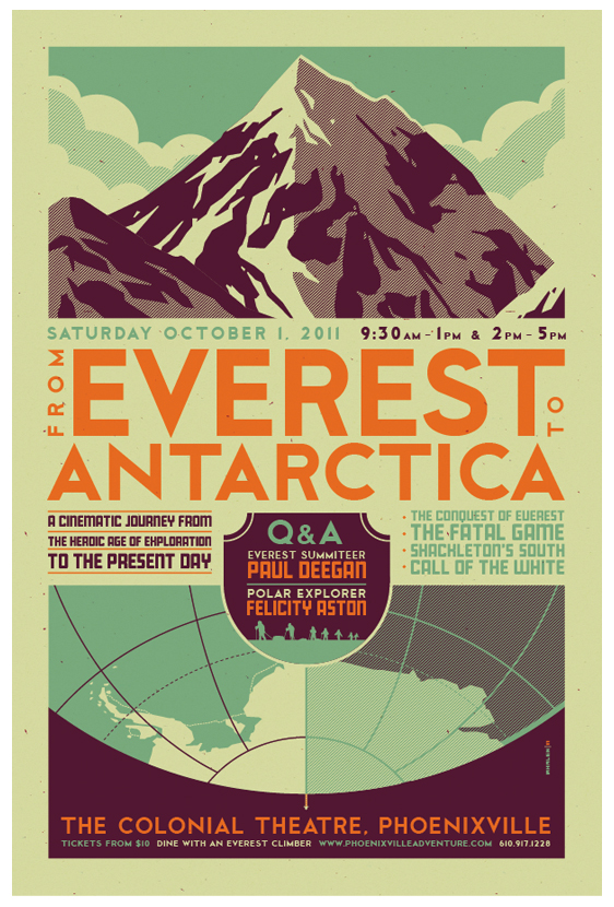 everest to antarctica poster
