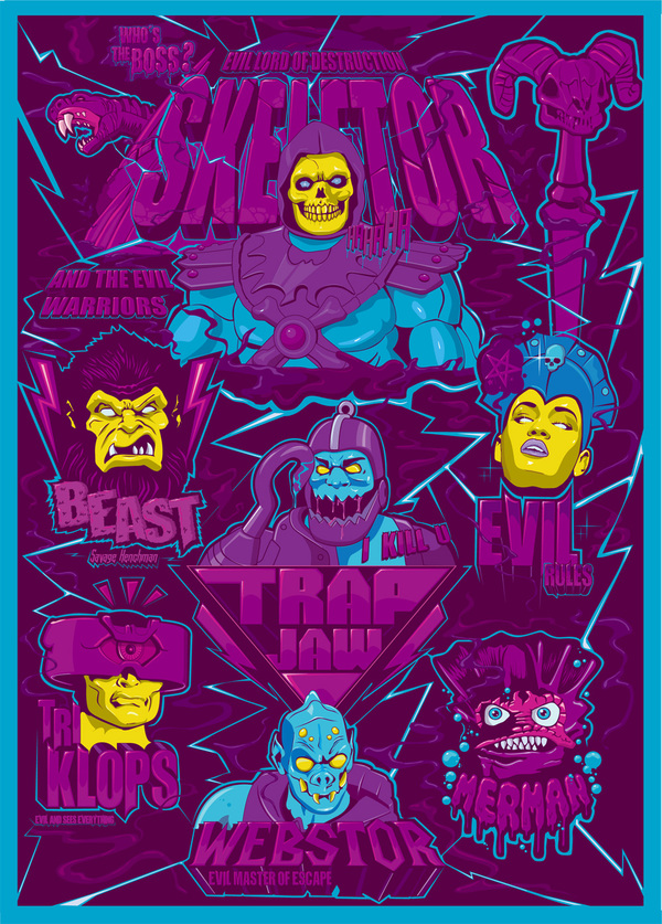 Evil Warriors Poster by thomas kuriatko