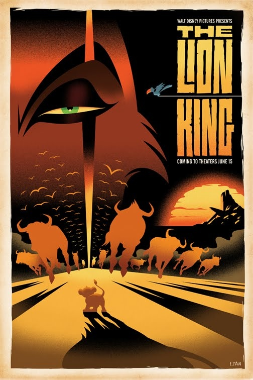The Lion King poster by Eric Tan