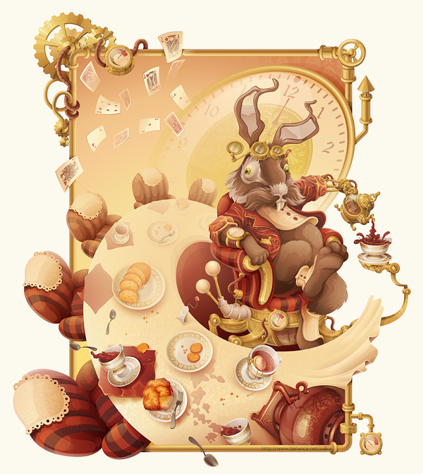 The Mad Steampunk Tea Party by Alexandra Malysheva