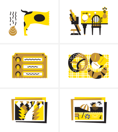 Icon set for Nido Magazine by LA TIGRE