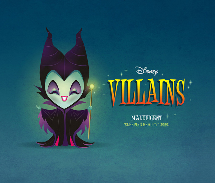 Kawaii Disney Villain - Maleficent