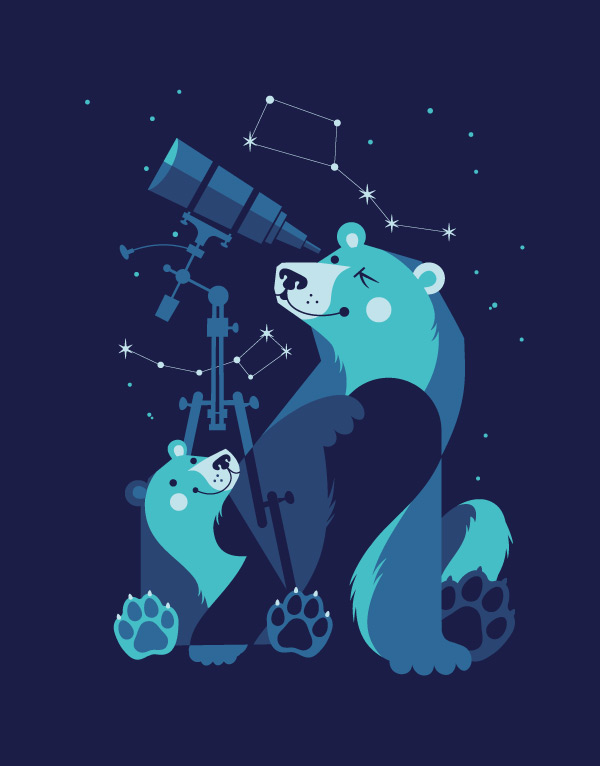 Ursa Minor and Ursa Major by Esther Aarts