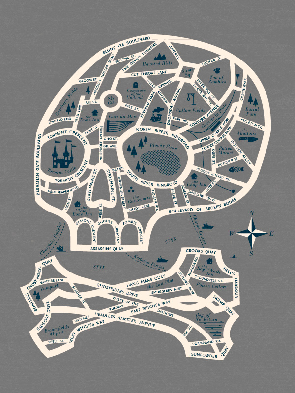 Map to Ghost Town by Esther Aarts