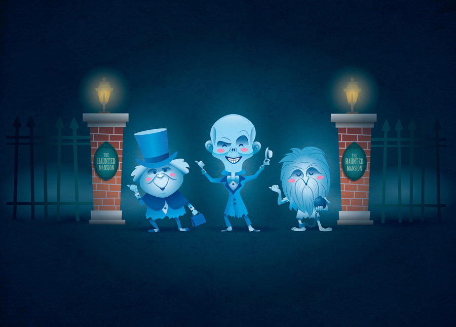 Haunted Mansion Ghosts by Jerrod Maruyama