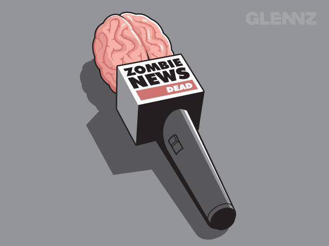 Zombie News by Glennz Tees