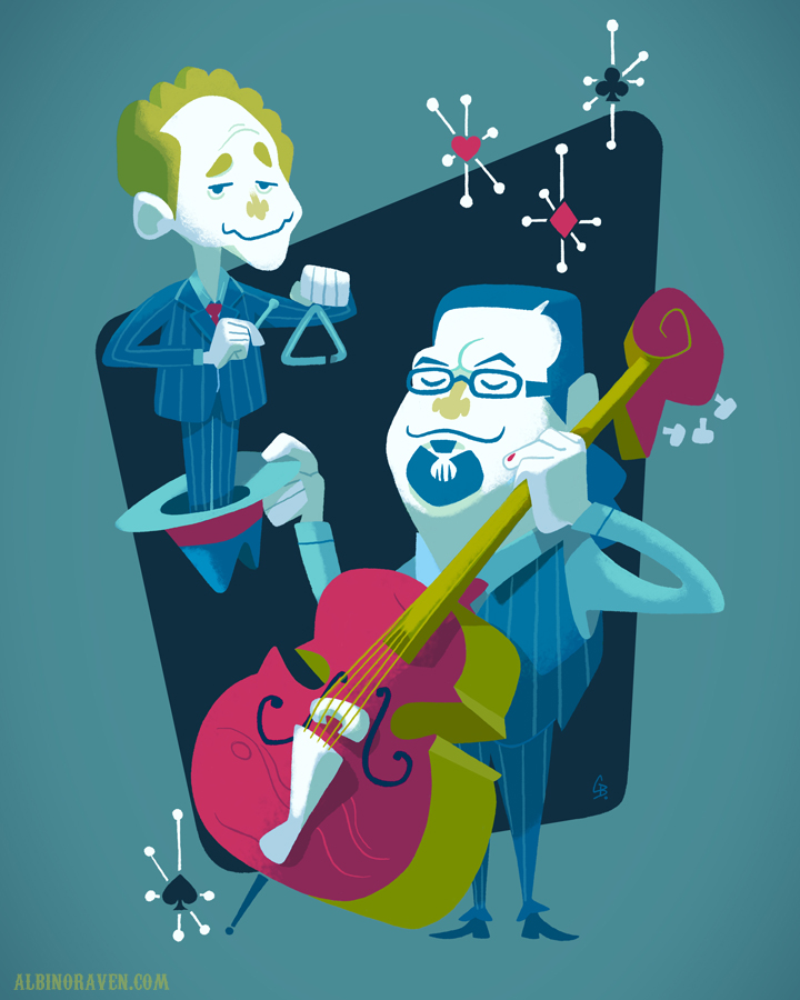 Penn & Teller by Glen Brogan