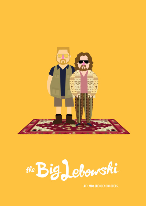 The Big Lebowski poster by Olaf Cuadras
