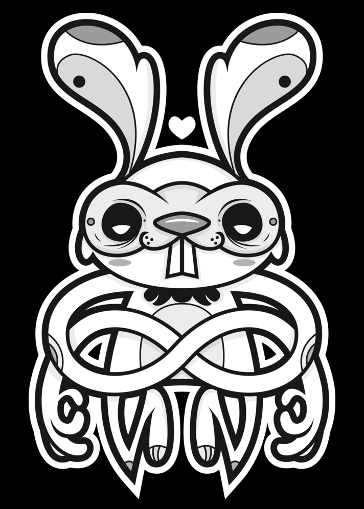 I Love White Rabbit by Iván Aquino