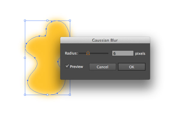 Illustrator CS6 Gaussian Blur