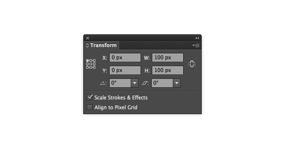 Illustrator CS6 Transform panel enhancements