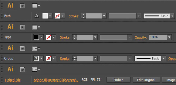 Illustrator CS6 Control panel enhancements