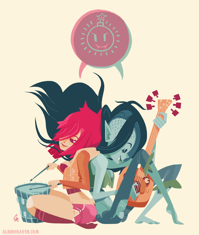 Marceline and Kim by Glen Brogan