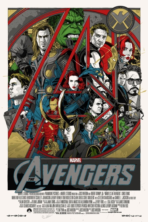 The Avengers Poster by Tyler Stout