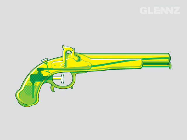 Vintage Water Pistol by Glennz Tees