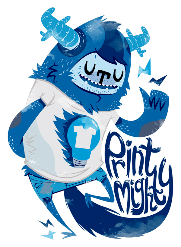 Print Mighty T-Shirt by Anna Johnstone