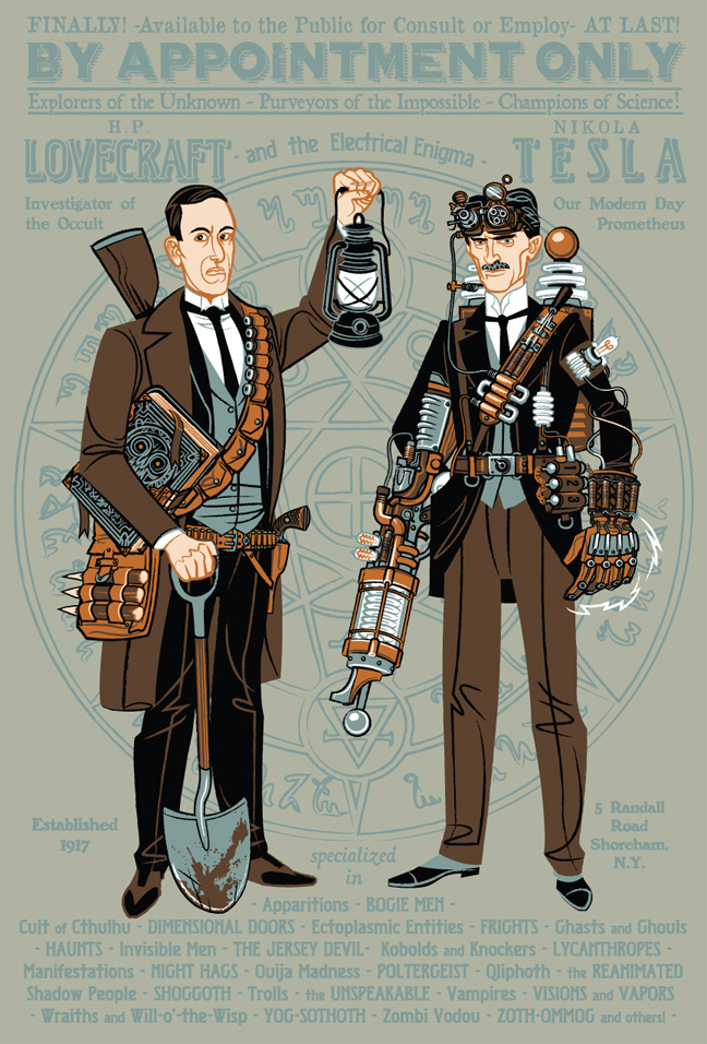 H.P. Lovecraft and Nikola Tesla: Paranormal Investigators by Travis Pitts