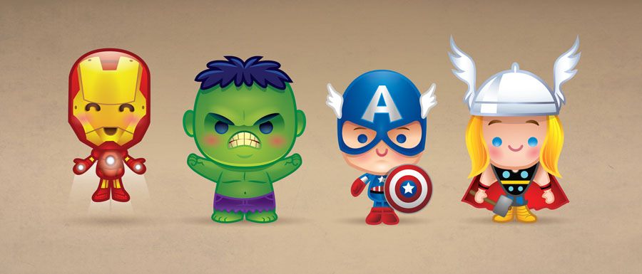 Kawaii Avengers by Jerrod Maruyama