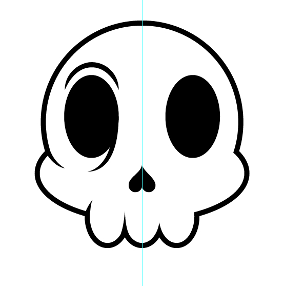 Create a Cartoon Skull Sticker in Illustrator - Vectips