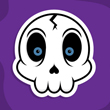 Create a Cartoon Skull Sticker Vector in Illustrator