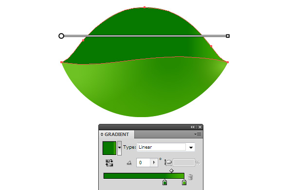 Green Leaf Vector color gradient