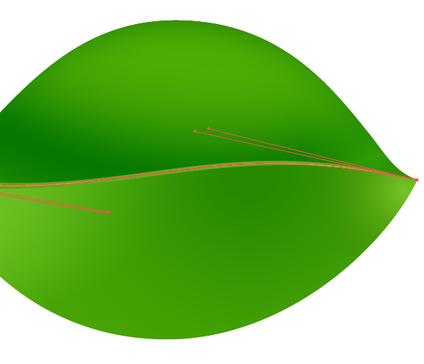 Green Leaf Vector stem