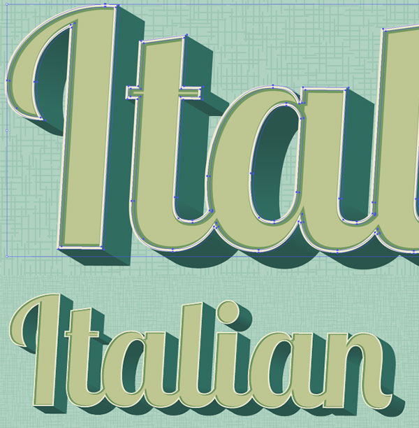 Create a 3D Style Retro Text Effect - Vectips