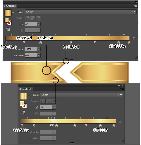 Get Gilded With This Gold Ribbon Banner Vector Tutorial Vectips