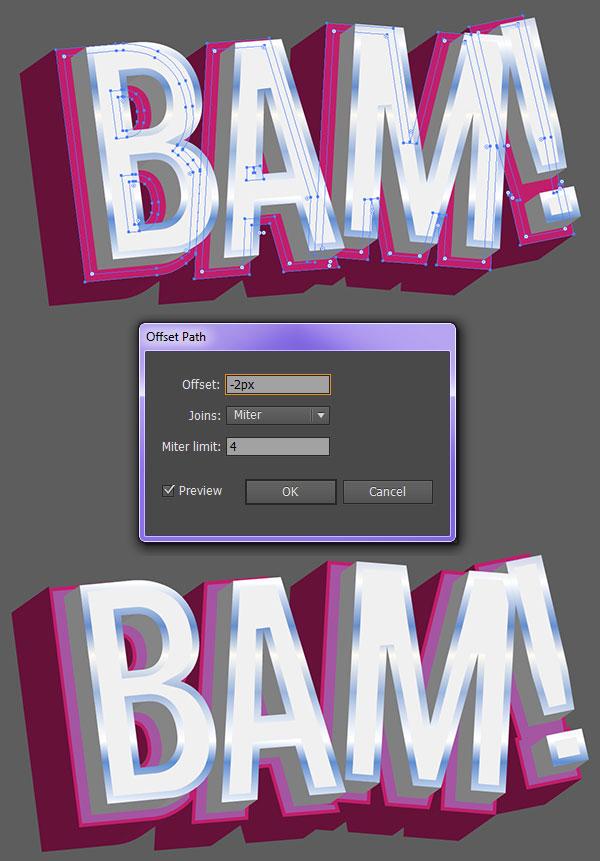 3D vector text