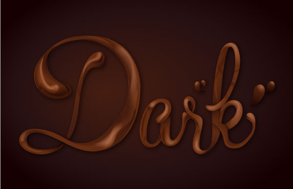 chocolate text vector