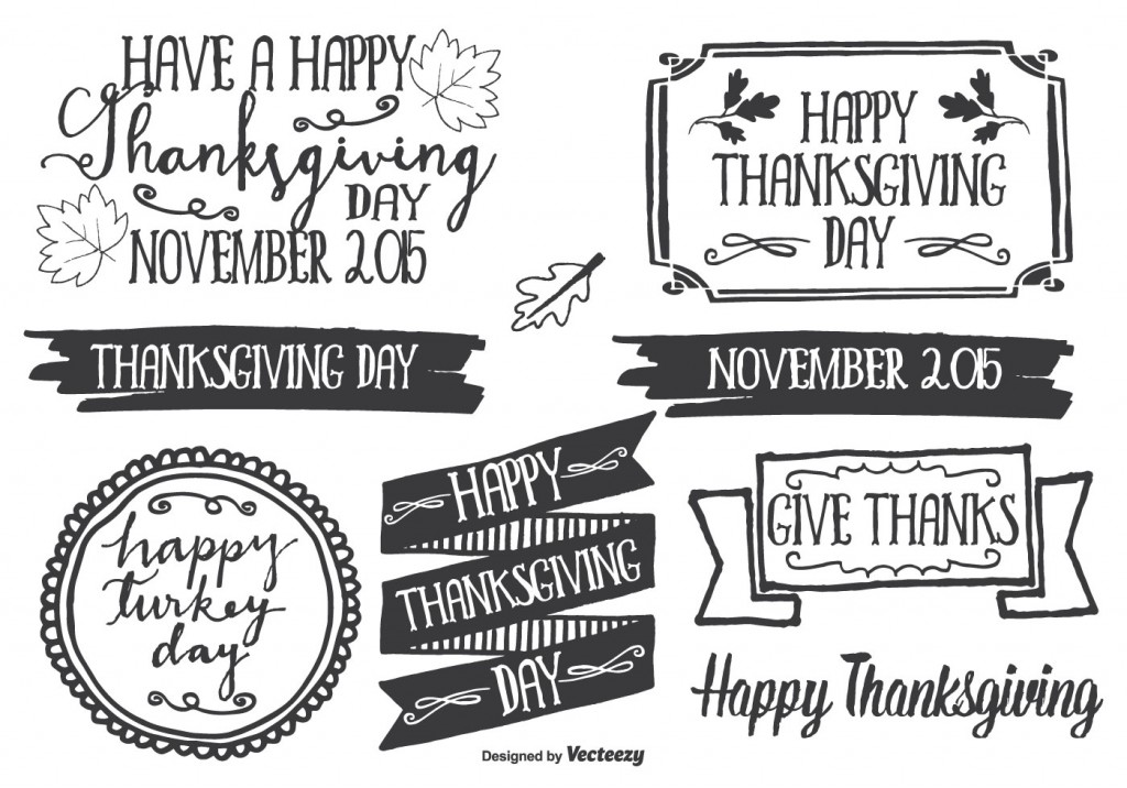 vector-hand-drawn-style-thanksgiving-label-set