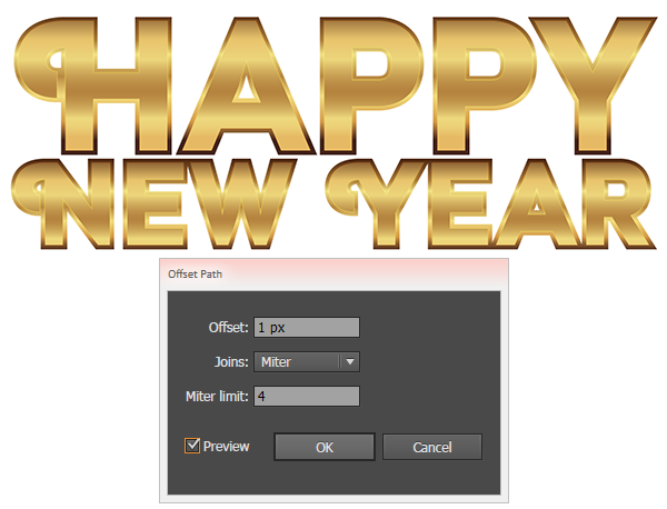 happy new year vector text