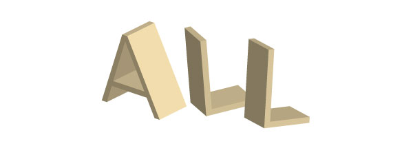 arrange your 3d vector text