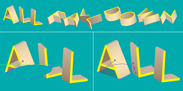 apply shadown to the 3d vector text