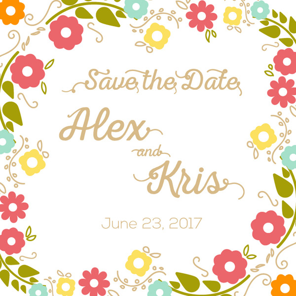 Save the date create an elegant invitation vector design vectips share your design in the comment section below and tweet out this tutorial link to followers after youve used the tutorial stopboris Choice Image