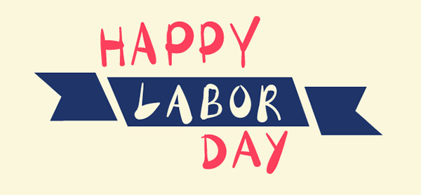 Labor Day badge vectors