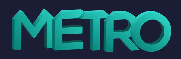 3D Geometric Text Effect