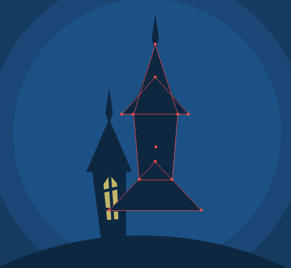 Haunted House Halloween Vector