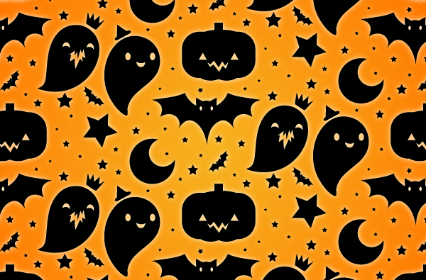 Cute Halloween Vector Pattern