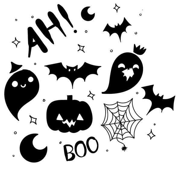 Hand Drawn Halloween Pattern Vector