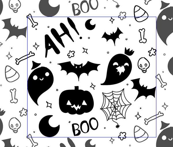 Hand Drawn Halloween Pattern Vector