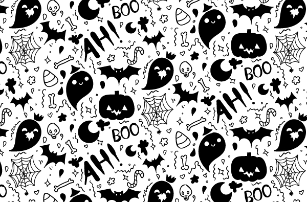 Boo-filled Hand Drawn Halloween Pattern Vector! - Vectips