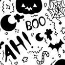 Boo-filled Hand Drawn Halloween Pattern Vector!