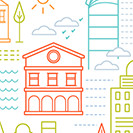 Create a Basic Shapes Little City Illustration!