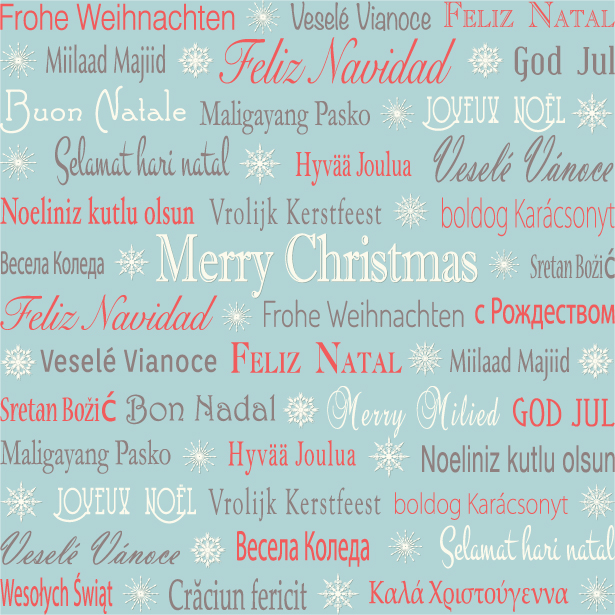 looking for a way to say merry christmas all over the world download this multilingual holiday greetings background