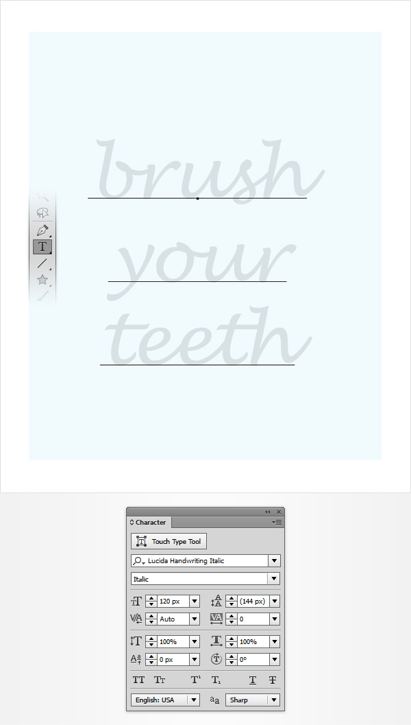 toothpaste text effect