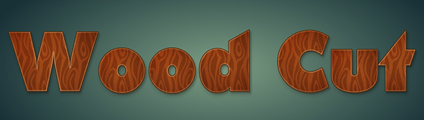 Wood Cut Text Treatment